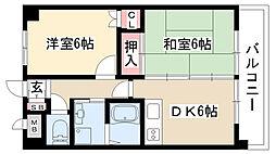 愛知県名古屋市瑞穂区井戸田町4丁目の賃貸マンションの間取り
