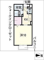モナリエーレII A棟[1階]の間取り