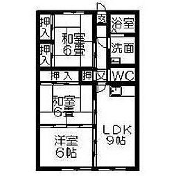 福岡県久留米市山川神代の賃貸マンションの間取り