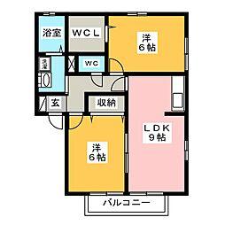 グランデ・カノン[1階]の間取り