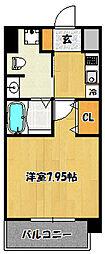 兵庫県神戸市兵庫区駅前通1丁目の賃貸マンションの間取り