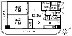 東京都江戸川区西葛西3丁目の賃貸マンションの間取り