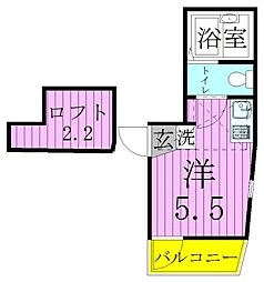メゾン ド スリール[3階]の間取り
