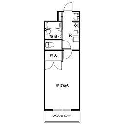 City Palace MINAMIKASAI[8階]の間取り