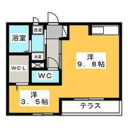レセンテ NSII[1階]の間取り