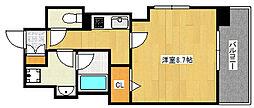 Cherir六甲道 4階1Kの間取り