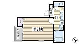 Grotta blu Komagome[203号室]の間取り