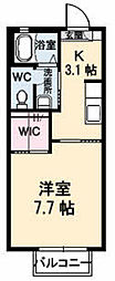 姫山フィルハ−モニ−カリシュテ[A102号室]の間取り