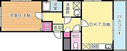 福岡県北九州市小倉北区宇佐町2丁目の賃貸アパートの間取り