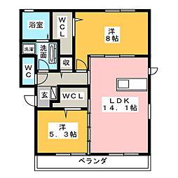 仮)D-room妙興寺[3階]の間取り