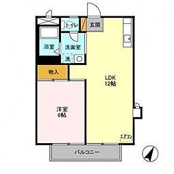 新柏ハウス[201号室号室]の間取り