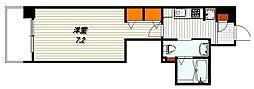 エステムプラザ東山邸 5階1Kの間取り
