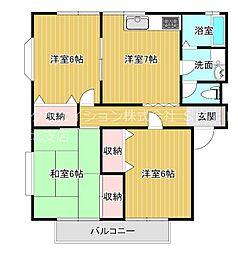 スカイハイツヒラヤマ[2階]の間取り