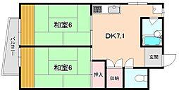 増田マンション[201号室]の間取り