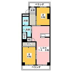 笠東ハイツ[2階]の間取り