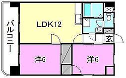 第五中村ビル[703号室]の間取り