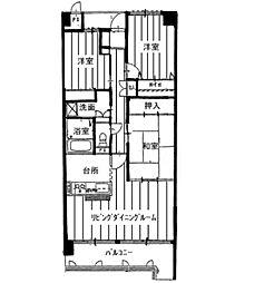 KDXレジデンス茨木II(旧:レガーロ茨木II)[0304号室]の間取り