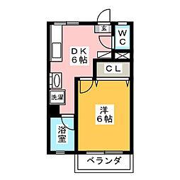 福岡県福岡市南区高宮4丁目の賃貸アパートの間取り