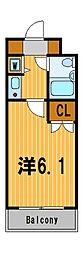 神奈川県横浜市旭区笹野台1の賃貸マンションの間取り