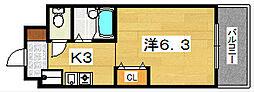 ブロッサムSANKYO[2階]の間取り