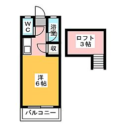 ウイング21街道 A[2階]の間取り