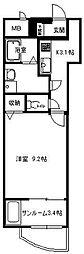 神奈川県平塚市西八幡3丁目の賃貸マンションの間取り