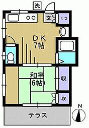 ハイツ出川160717m[1階]の間取り