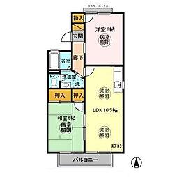 グランメールコホリ 弐番館[2階]の間取り