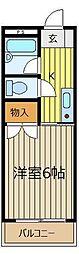 オーク上福岡[1階]の間取り