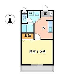 栃木県宇都宮市宝木本町の賃貸マンションの間取り
