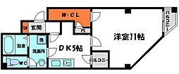 グローバル守口2 3階1DKの間取り