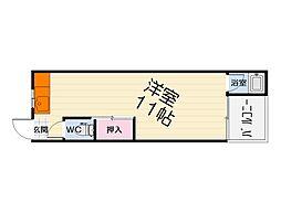 大阪府堺市西区浜寺諏訪森町西4丁の賃貸アパートの間取り