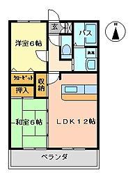 K's2002[310号室号室]の間取り