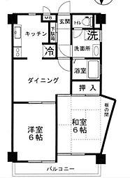 ビュークレスト戸塚[2階]の間取り
