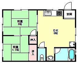 兵庫県神戸市垂水区学が丘4丁目の賃貸マンションの間取り