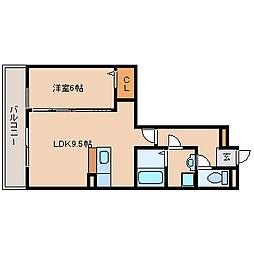 兵庫県尼崎市金楽寺町2丁目の賃貸アパートの間取り