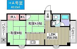 鶴町グリーンコーポ[50A号室]の間取り