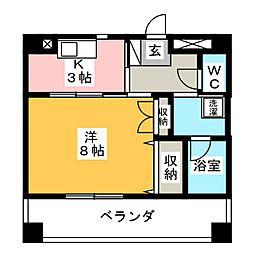 TNマンションII[3階]の間取り