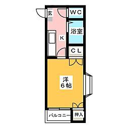 ドリームパレス大橋五番館[1階]の間取り