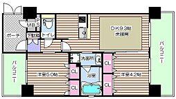 エステムコート梅田・天神橋2グラシオ[11階]の間取り