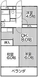 エステートK[506号室]の間取り