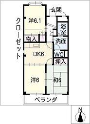 エクセルメゾンB[1階]の間取り