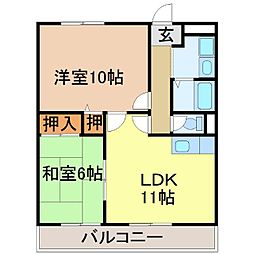 Chez-soi TATSUMI[2階]の間取り