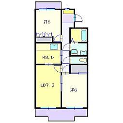 日吉ヒルトップマンション[3階]の間取り