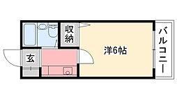 モナムール甲子園[203号室]の間取り