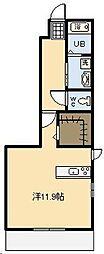 ドラセナ B[1階]の間取り