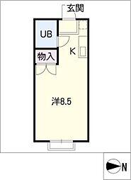 Patio小林[2階]の間取り