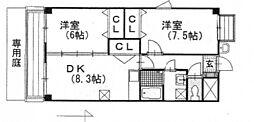 アーヴァンシティー中島田[4階]の間取り