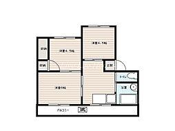 三木マンション[2階]の間取り