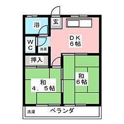 アサノマンション[2階]の間取り
